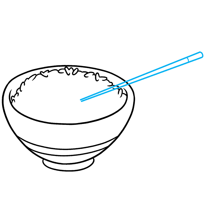 How to Draw Rice and Chopstick Step 05