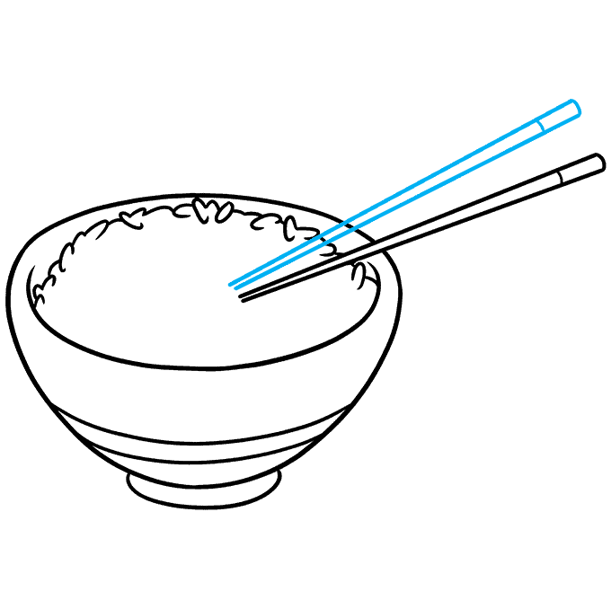 How to Draw Rice and Chopstick Step 06