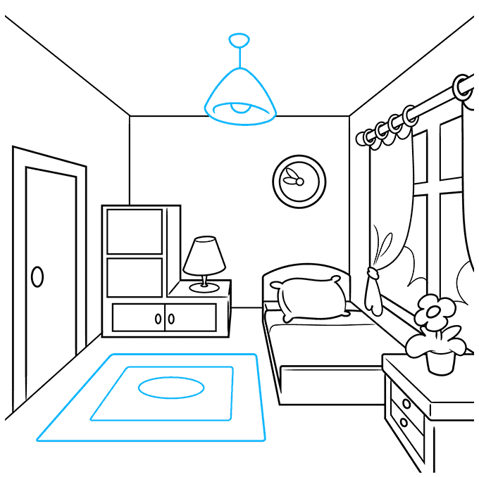 How to Draw a Room Step 08