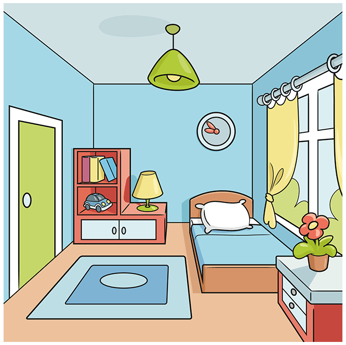 How to Draw a Room Step 10
