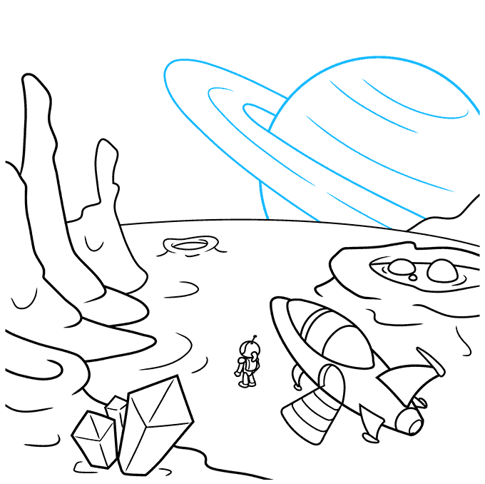 How to Draw a Sci-Fi Landscape Step 09