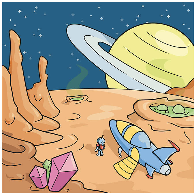 How to Draw a Sci-Fi Landscape Step 10