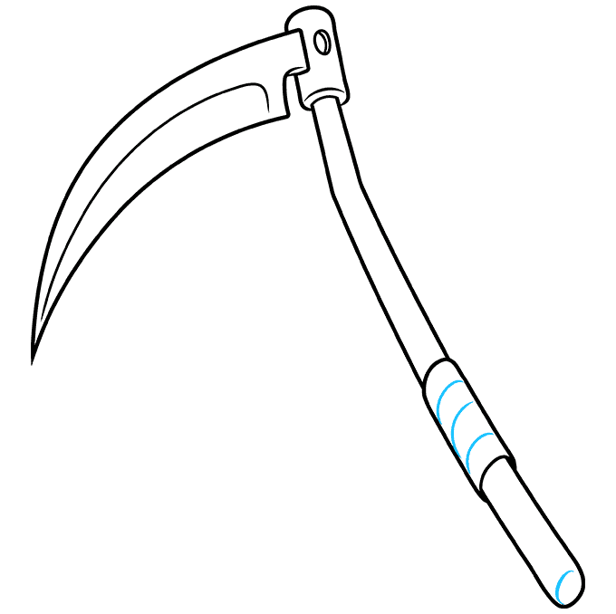 How to Draw a Scythe Step 09