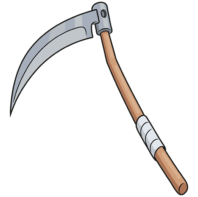 How to Draw a Scythe Step 10