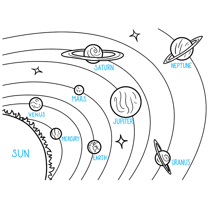 How to Draw the Solar System Step 09