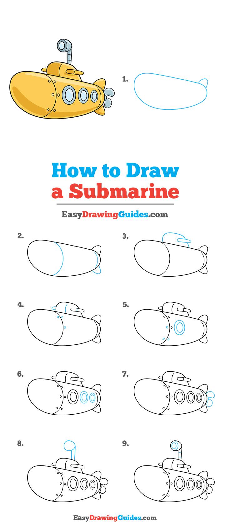 How to Draw Submarine