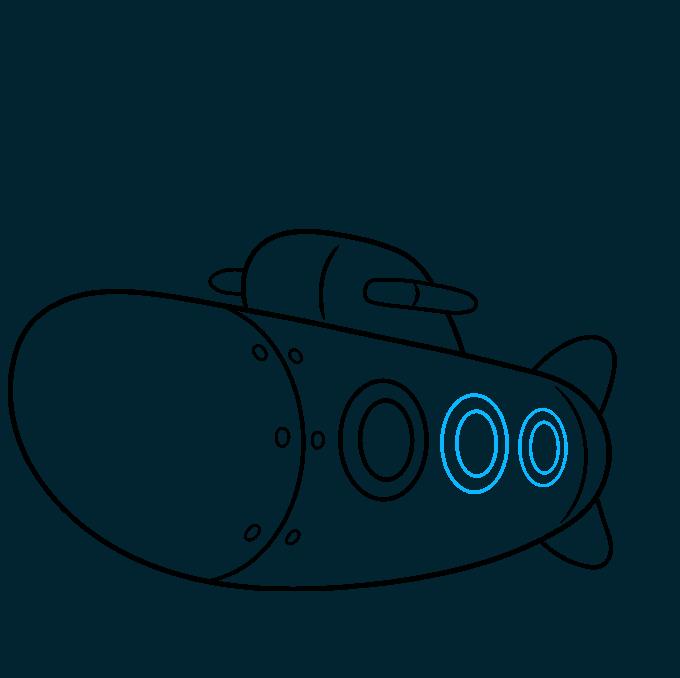How to Draw Submarine: Step 6