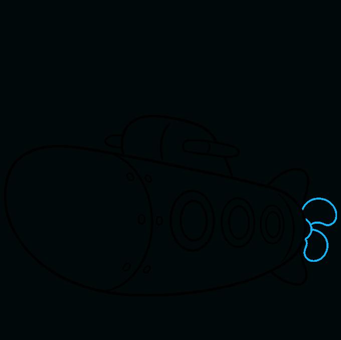 How to Draw Submarine: Step 7