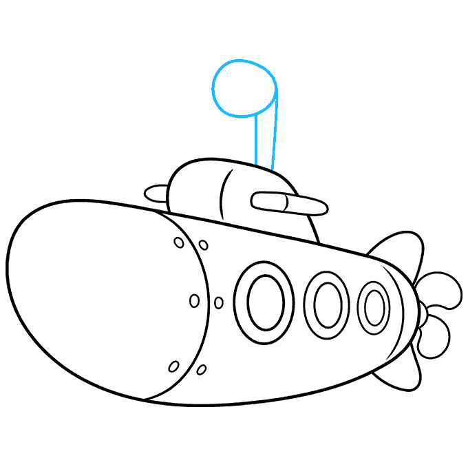 How to Draw Submarine: Step 8