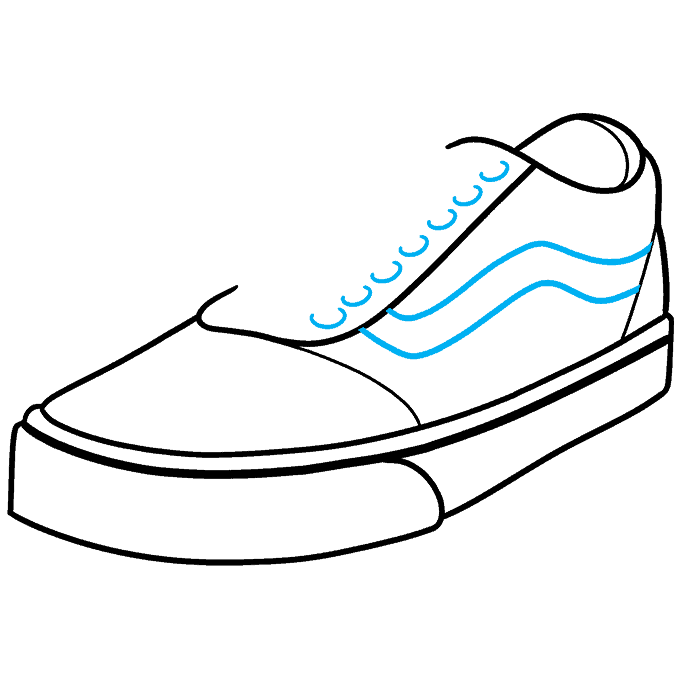How to Draw Vans Step 07