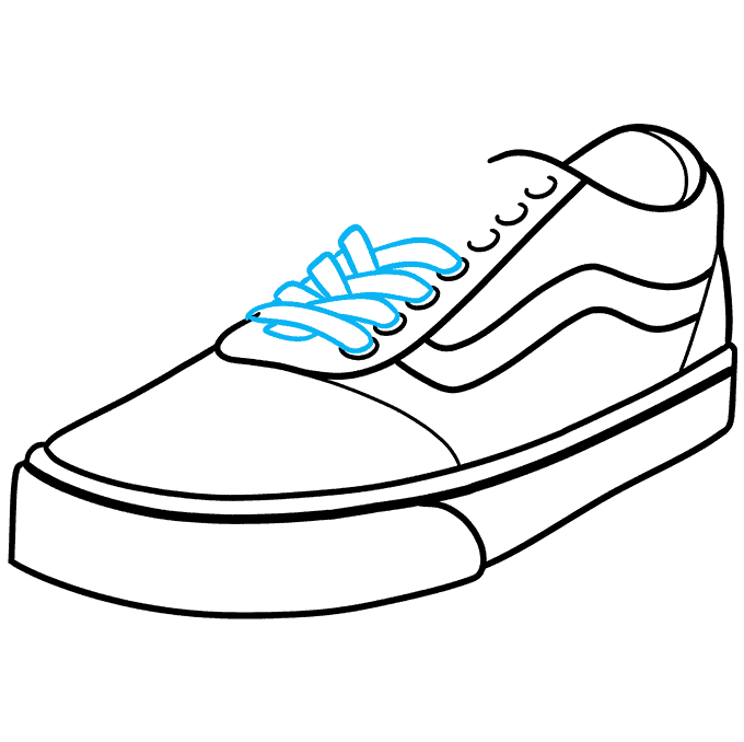 How to Draw Vans Step 08