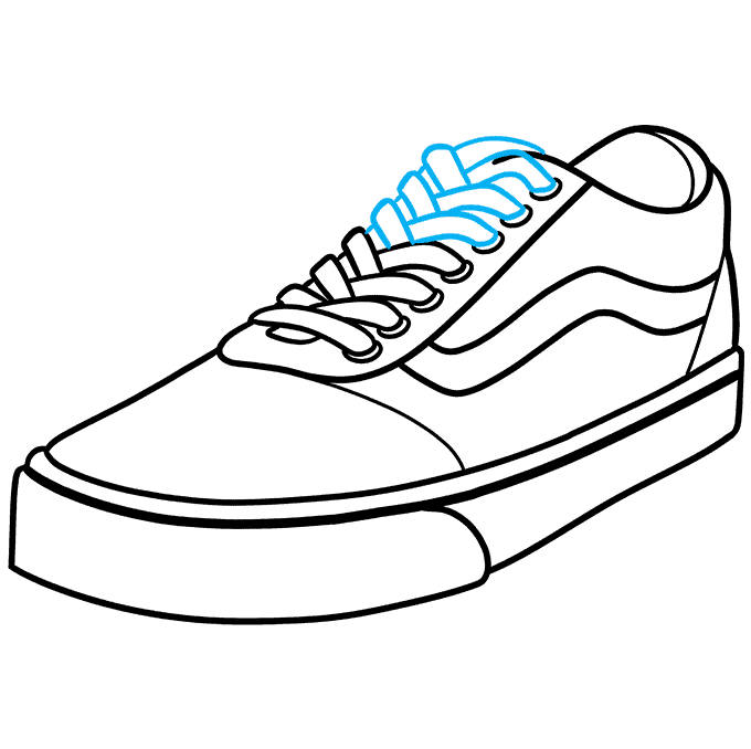 How to Draw Vans Step 09