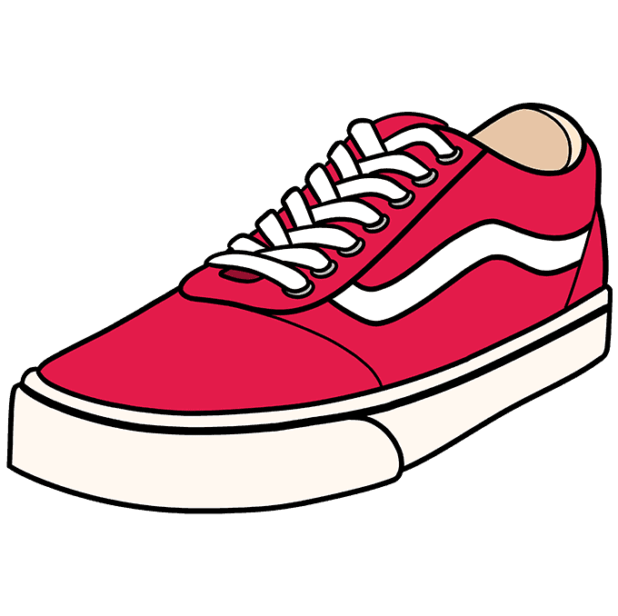 How to Draw Vans Step 10