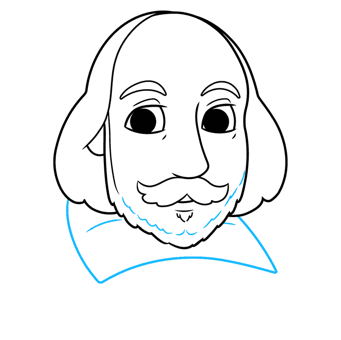 How to Draw William Shakespeare: Step 7