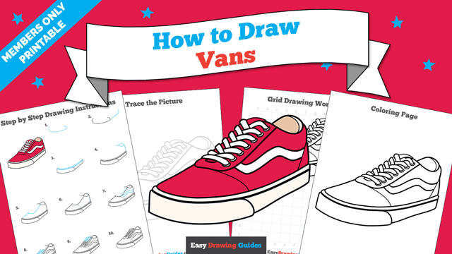 Printables thumbnail: How to Draw Vans