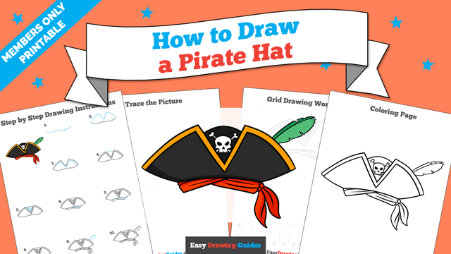 Printables thumbnail: How to Draw a Pirate Hat