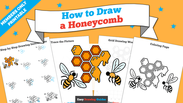 Printables thumbnail: How to Draw a Honeycomb