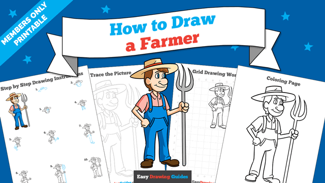 Printables thumbnail: How to Draw a Farmer