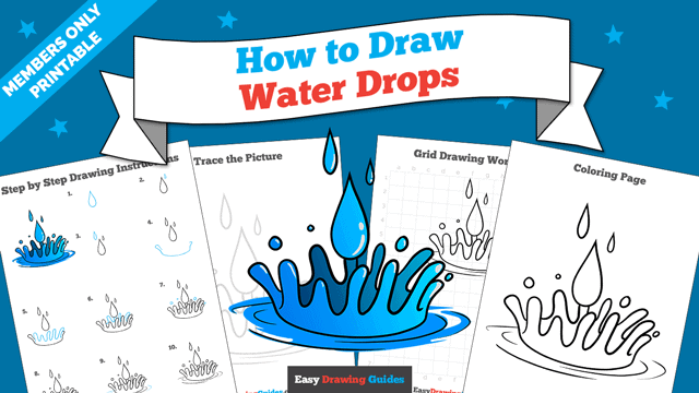 Printables thumbnail: How to Draw Water Drops