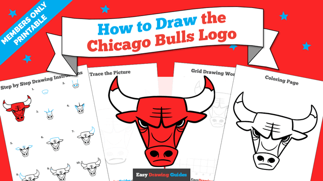 Printables thumbnail: How to Draw the Chicago Bulls Logo