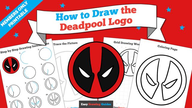 Printables thumbnail: How to Draw the Deadpool Logo
