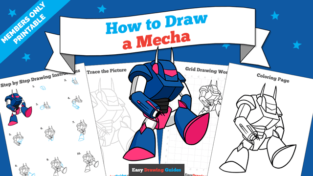 Printables thumbnail: How to Draw a Mecha