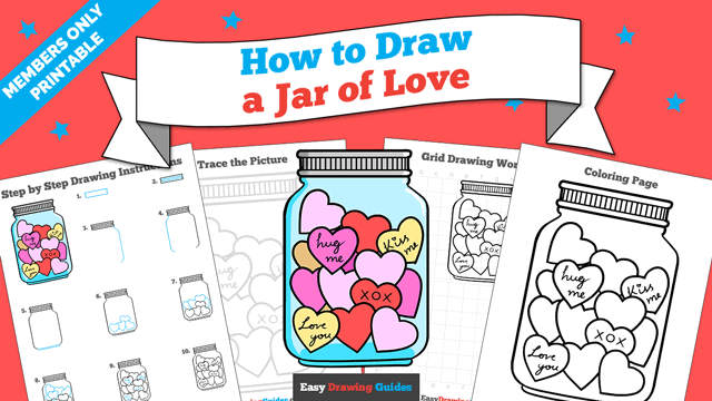 Printables thumbnail: How to Draw a Jar of Love