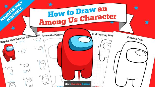 Printables thumbnail: How to Draw an Among Us Character