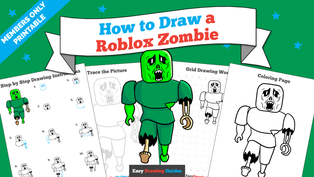 Printables thumbnail: How to Draw a Roblox Zombie