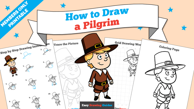 Printables thumbnail: How to Draw a Pilgrim