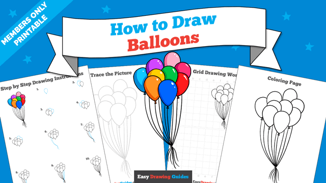 download a printable PDF of Balloons drawing tutorial