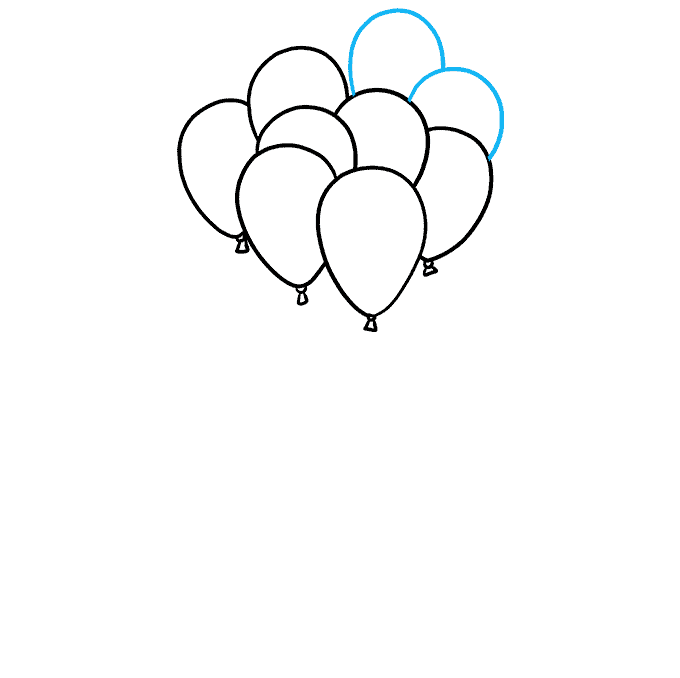 How to Draw Balloons Step 05