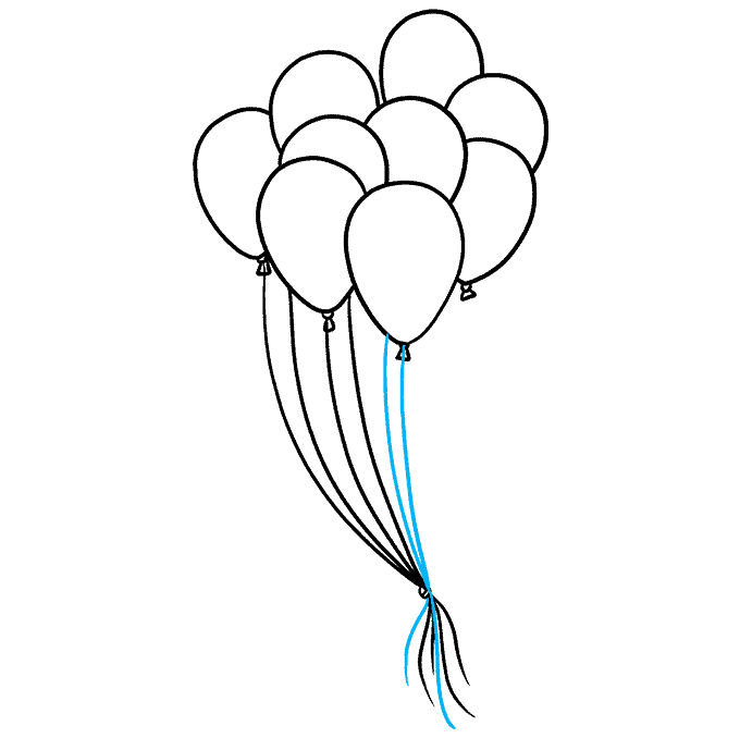 How to Draw Balloons Step 08
