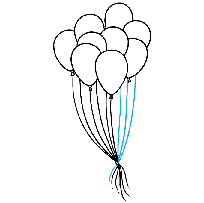 How to Draw Balloons Step 09