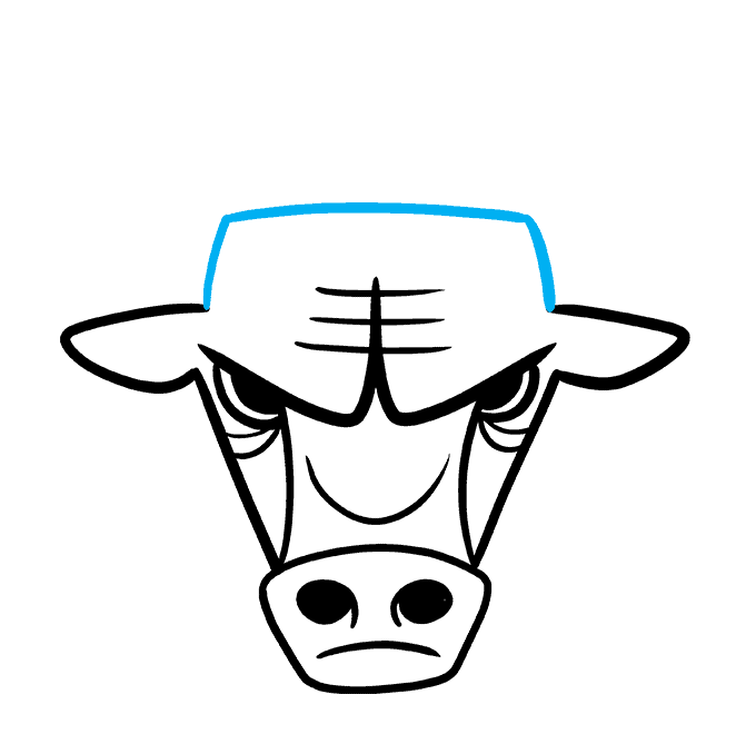 How to Draw the Chicago Bulls Logo Step 06