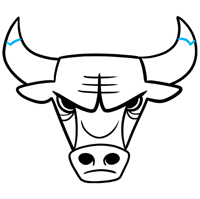 How to Draw the Chicago Bulls Logo Step 09