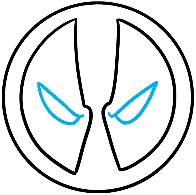 How to Draw the Deadpool Logo Step 09