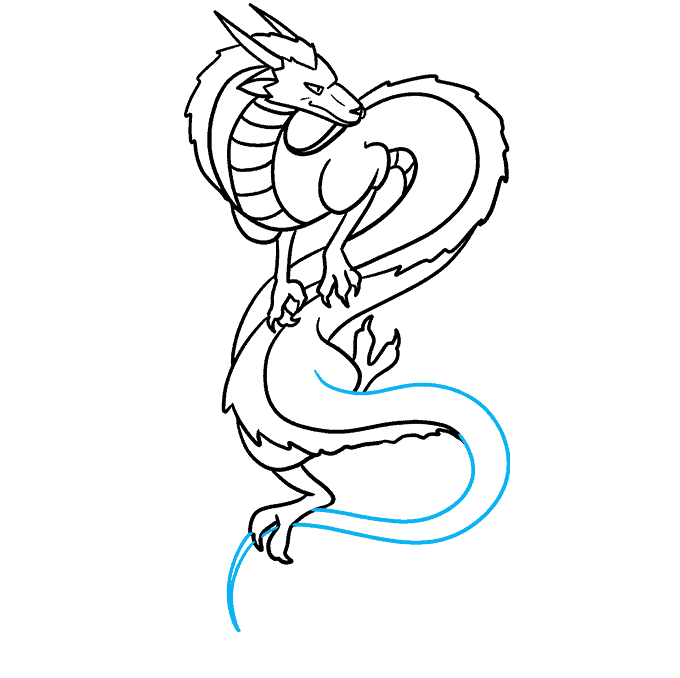 How to Draw the Haku Dragon from Spirited Away Step 08