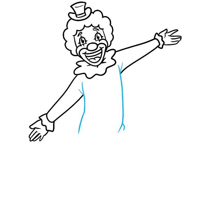 How to Draw a Happy Clown Step 06
