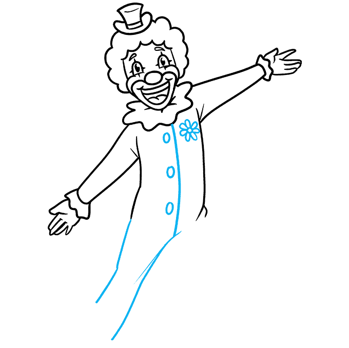 How to Draw a Happy Clown Step 07