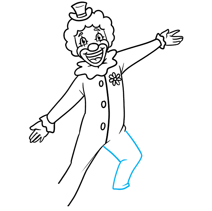 How to Draw a Happy Clown Step 08