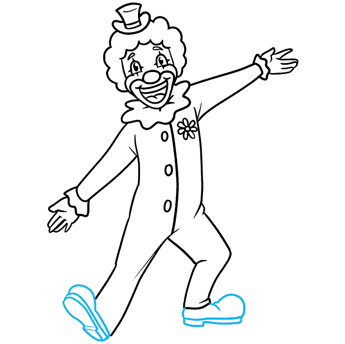 How to Draw a Happy Clown Step 09