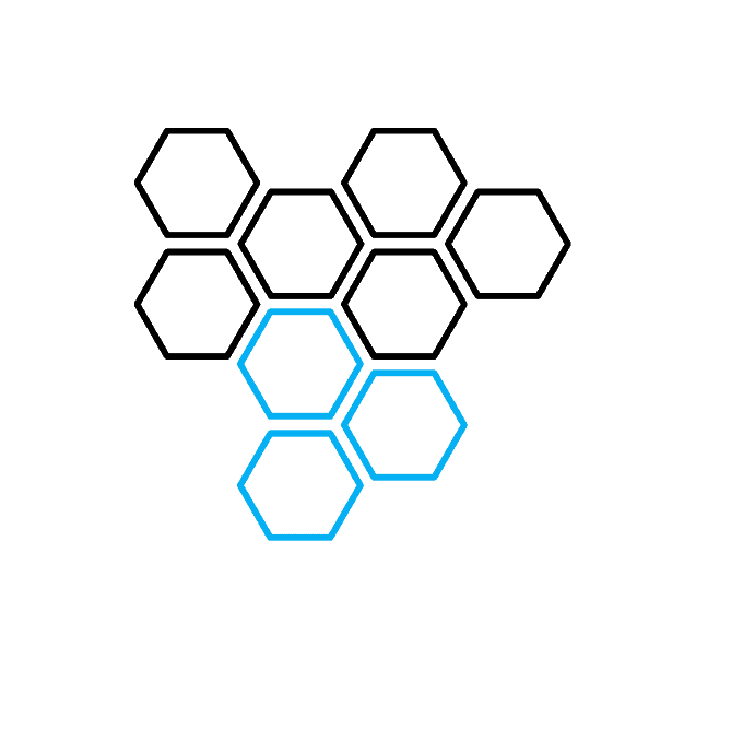 How to Draw a Honeycomb Step 03