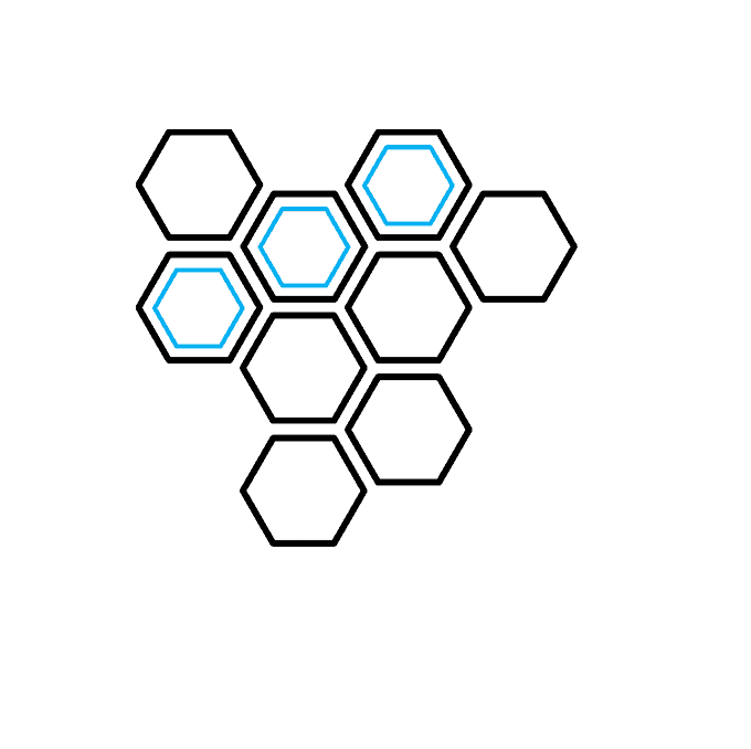 How to Draw a Honeycomb Step 04