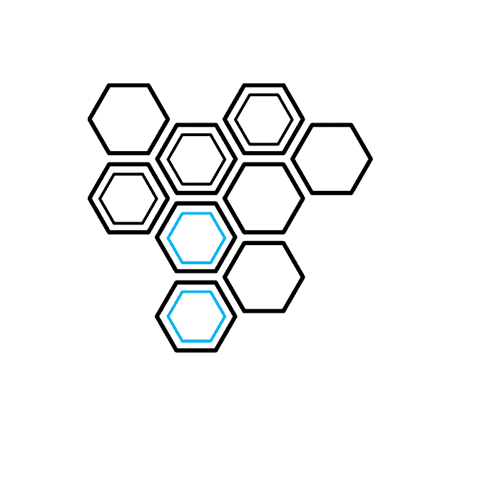 How to Draw a Honeycomb Step 05