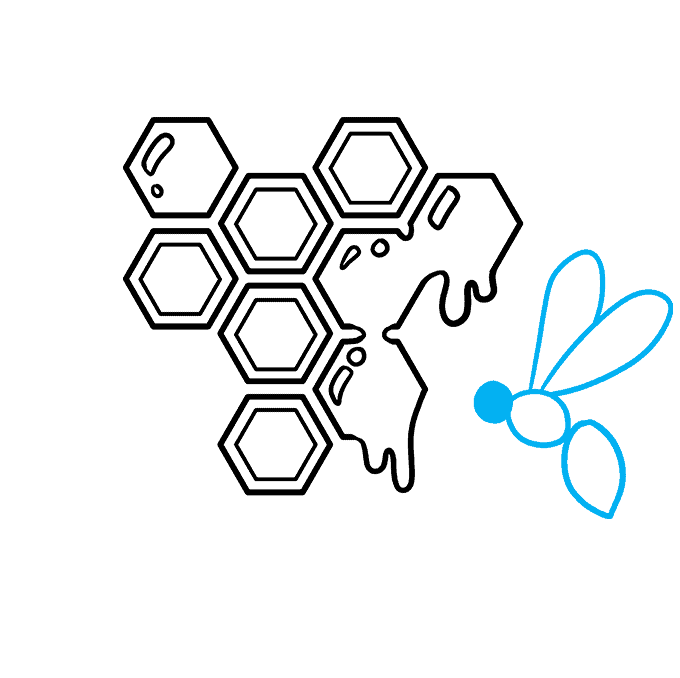 How to Draw a Honeycomb Step 07