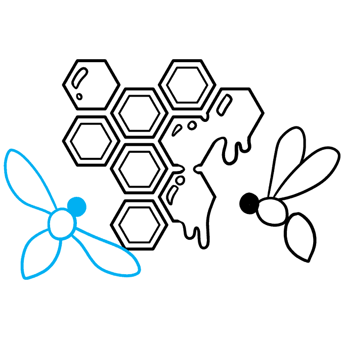 How to Draw a Honeycomb Step 08