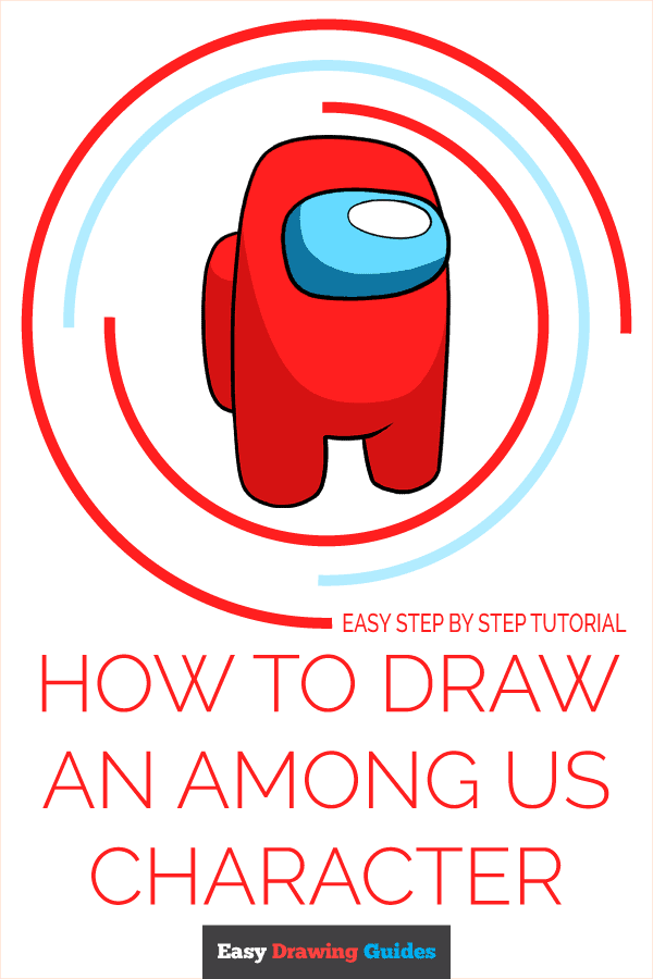 How to Draw an Among Us Character Pinterest Image