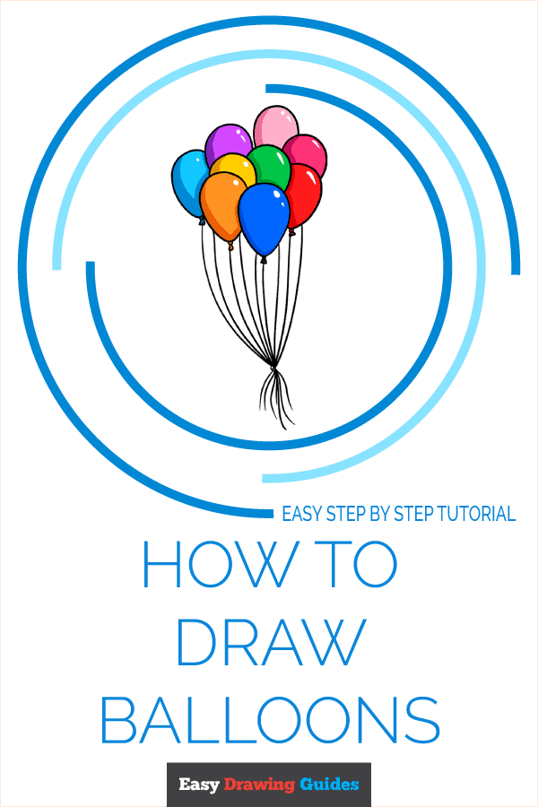 How to Draw Balloons Pinterest Image