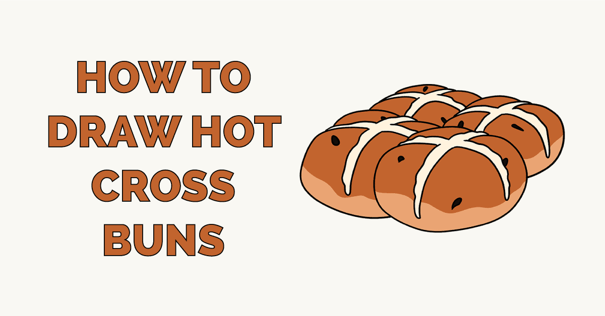 How to Draw Hot Cross Buns Featured Image